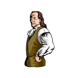 Ben Franklin Retro vector image