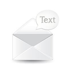 Envelope text vector