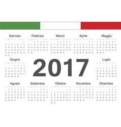 Italian circle calendar 2017 vector image