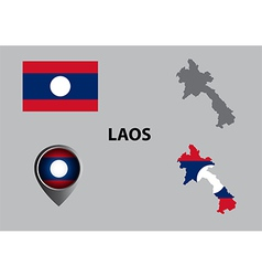 Map of laos and symbol vector
