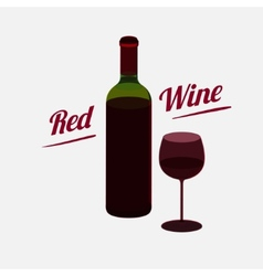 Red wine a bottle poster vector