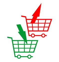 Purchase and return symbol vector