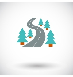 Road icon vector