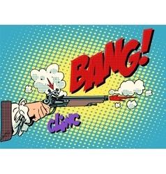 Duel shot pistol vector