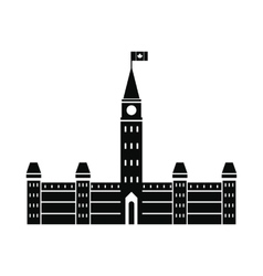 Parliament Buildings Ottawa icon simple style vector image