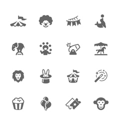 Simple circus icons vector