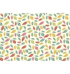 Colorful leaf seamless pattern vector