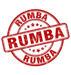 Rumba red grunge round vintage rubber stamp vector