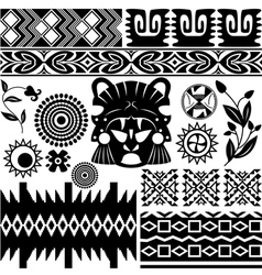 Ancient America pattern set small vector image