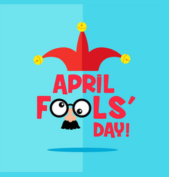 april fool s day typography vector image