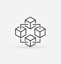 blockchain technology icon block chain vector image vector image