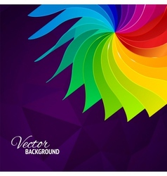 Colorful background with book pages rainbow vector image vector image