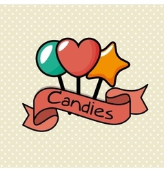 Delicious sweet candies icon vector