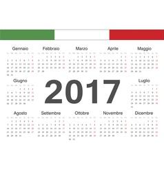 Italian circle calendar 2017 vector