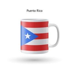 Puerto rico flag souvenir mug on white background vector