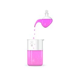 Retort with chemical beaker ph measurement vector