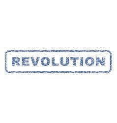 Revolution textile stamp vector