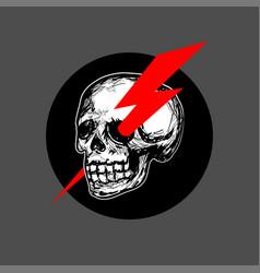 skull logo icon vector image vector image