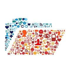 Social media folder composition vector