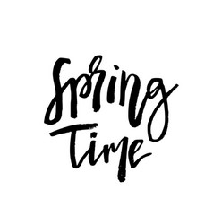 Spring time - hand drawn inspiration quote vector