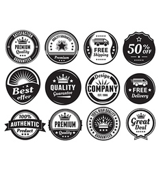 Twelve scalable vintage badges vector