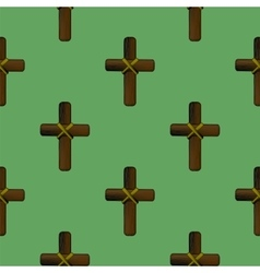 Wood Cross Seamless Pattern vector image