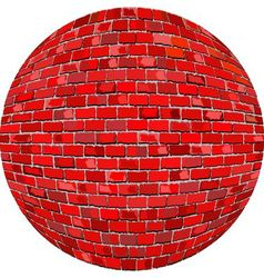Red brick ball vector