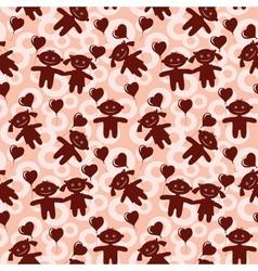 Children seamless valentine background vector image