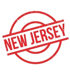 New jersey rubber stamp vector