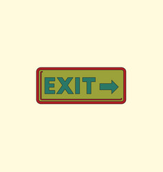 exit way sign in flat style vector image