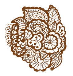 Mehndi design patterns vector