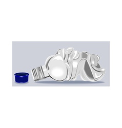 Plastic water bottle container crushed vector