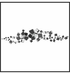 3d cubes connection vector