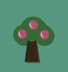 flat icon design collection ecological tree in vector image
