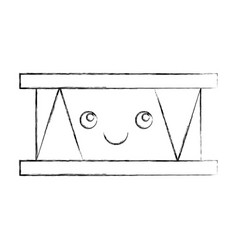 Drums musical instrument kawaii character vector