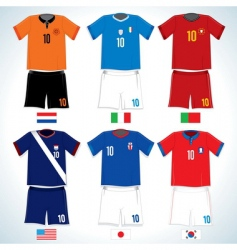 Soccer uniforms vector