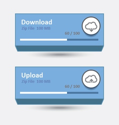 Cloud download and upload 7 vector
