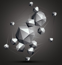 Geometric abstract 3d complicated object vector