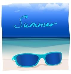 01 paradise Sea sunglasses vector image