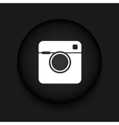 modern camera black circle icon vector image