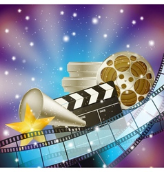 Cinema blue background vector