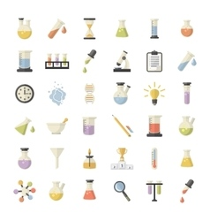 Science and research icons set vector