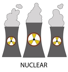 Isolated nuclear power plant icon vector