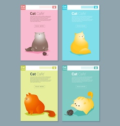 Animal banner with cat story for web design 2 vector