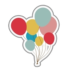 balloons party icon image vector image