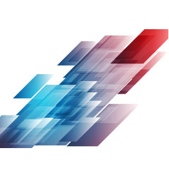 blue and red shiny hi-tech background vector image vector image