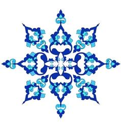 Blue oriental ottoman design twenty nine vector