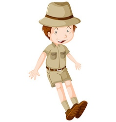 Boy in safari suit vector image vector image