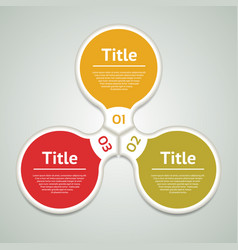 business concept with three options vector image vector image