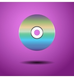 CD on a purple background vector image vector image